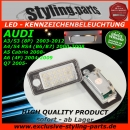 FIT ON AUDI LED Licence Plate Light White E-Mark A3 A4 B6 A5 B7 Q7