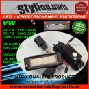 Fit on VW LED Licence Plate Light White E-Mark Golf 4/5/6/7, Passat 3C Limousine
