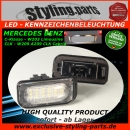 For Mercedes LED Licence Plate Light White E-Mark C W203 4D / W209 CLK