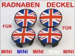 Passend für MINI Radnaben Union Jack colored R50 R52 R53 R56 R57 R58 R59 R60