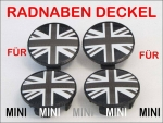 MINI Radnaben Union Jack Black R50 R52 R53 R56 R57 R58 R59 R60