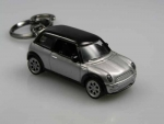 KEYCHAIN SILVER WITH BLACK ROOF