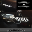 MINI F56 Doorhandle Covers Checkered Flag