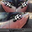 MINI F55 F56 Mirror Covers Checkered Flag