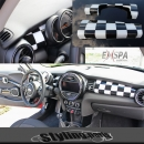 MINI F55 F56 DASHBOARD COVER CHEQUERED FLAG