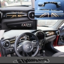 MINI F55 F56 COCKPIT INNENVERKLEIDUNG UNION JACK GOLD - MINI ab ende 2013