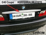 Fit on BMW Trunk Rim Cover Chrome 3er E46 Coupe 2003 - 2005