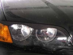 BMW Eyebrows - Scheinwerferblenden Carbon 3er E46 4trg.