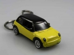 MINI KEYCHAIN YELLOW WITH BLACK ROOF