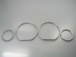 Fit on BMW Dashboard Rings Siver E36 3er Z3 snap in
