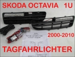 SKODA OCTAVIA 1U 2000-2010 DAYLIGHT DRL include Black insert