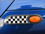 MINI Seitenverkleidung Blinker Chequered Flag R50 R52 53