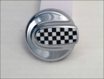 MINI Cooper S Tankdeckel chequered Flag / Chrom R55 R56