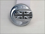 Passend für MINI Cooper S Tankdeckel Union Jack Black / Chrom R55 R56