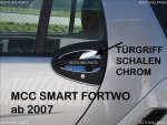 Smart Türgriff Schalen Chrom Coupe/Cabrio 451 ab 07