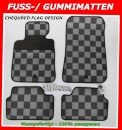 VW Beetle 1998-2010 Gummimatten Checkered Flag / Schachbrett / Zielflagge