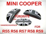 FIT ON MINI Handle for Interior Glove Box & Door Opener UNION JACK Black R55 R56 R57 R58 R59