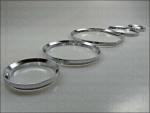 MERCEDES W140 / R129 DASHBOARD RINGS to snap in SILBER
