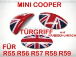 MINI Türgriffe/Handschuhfach innen Union Jack colored R55 R56 R57 R58 R59